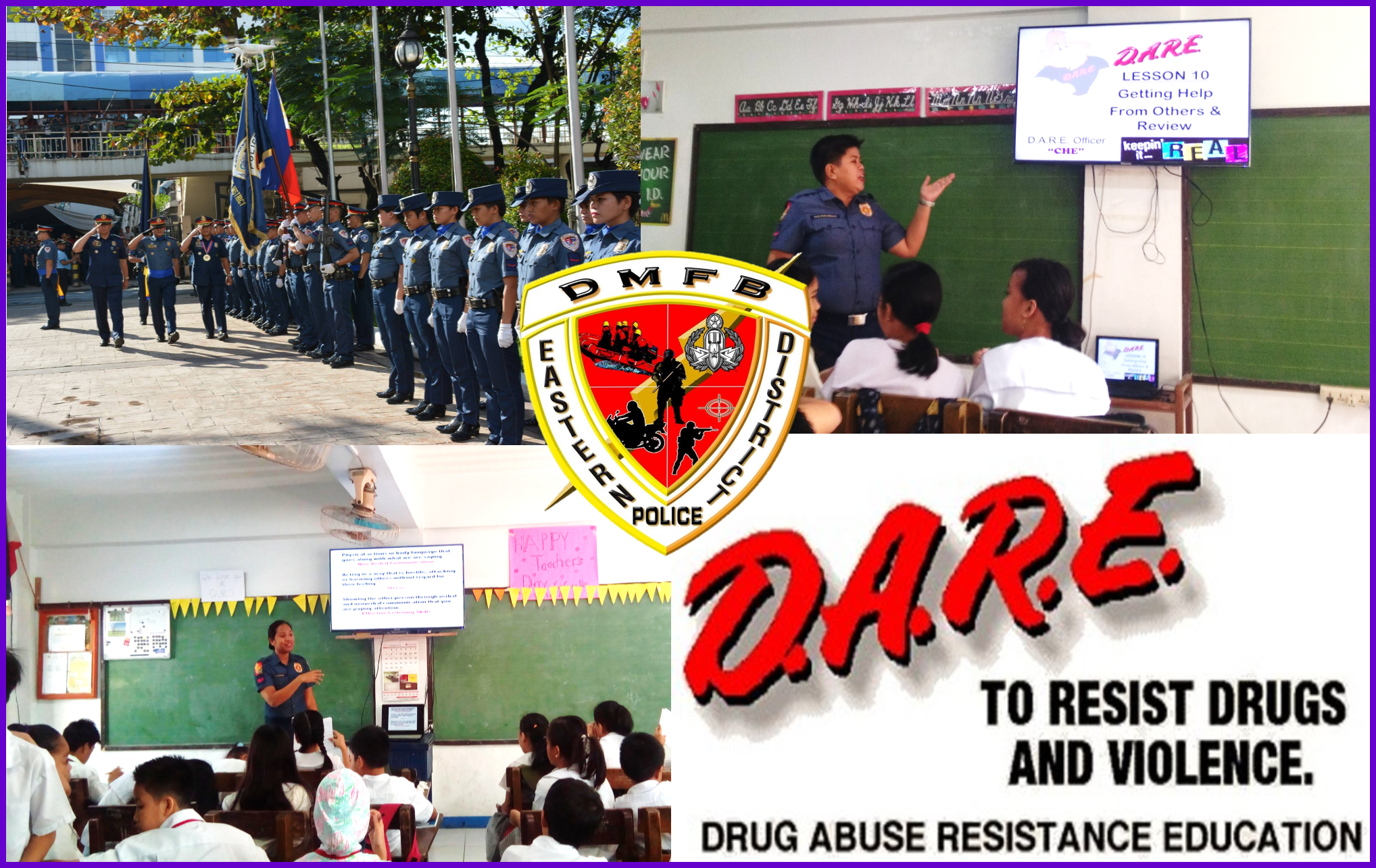 D.A.R.E. Officer of District Mobile Force Battalion conducts Drug Abuse Resistance Education