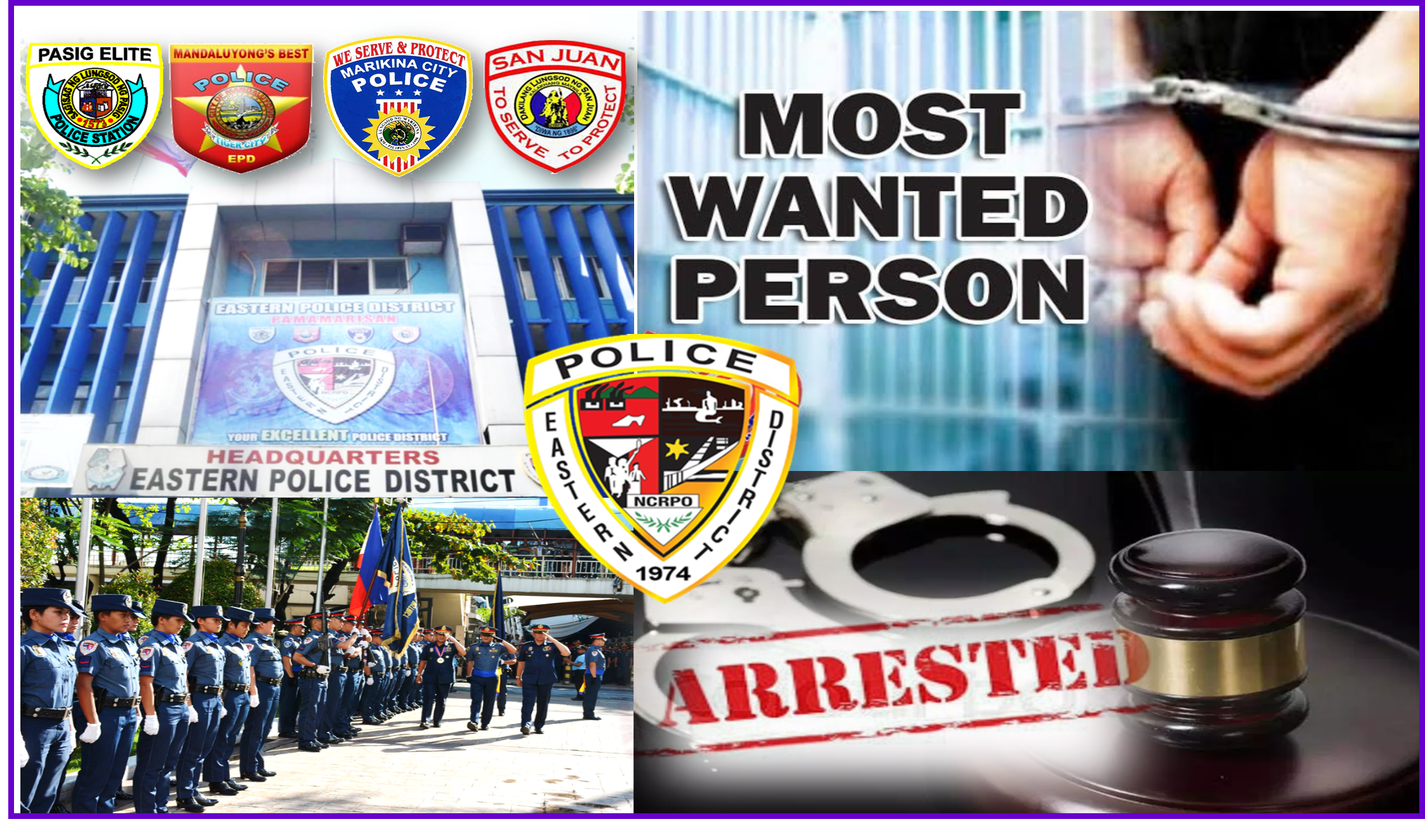 Fifteen (15) Most Wanted Person Captured in EPD's Simultaneous Manhunt Operations in a Day