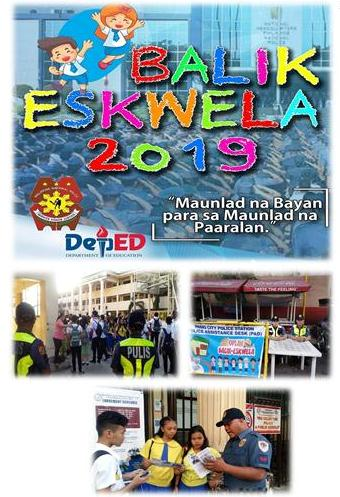 EPD GEARS UP FOR BALIK ESKWELA FOR S.Y. 2019 – 2020