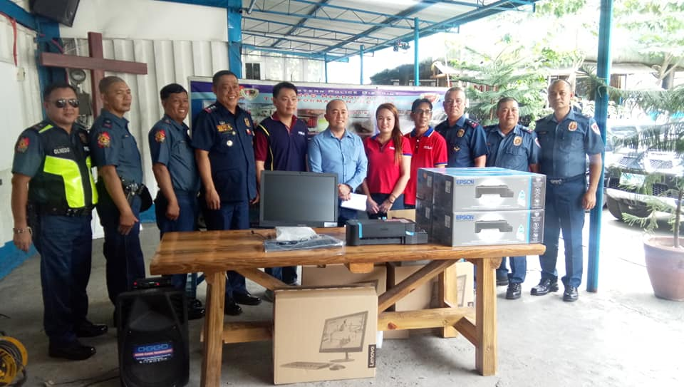 PSSLAI Donated 5 Sets of Desktop Computers and 5 Printers to EPD Mobile Force Battalion