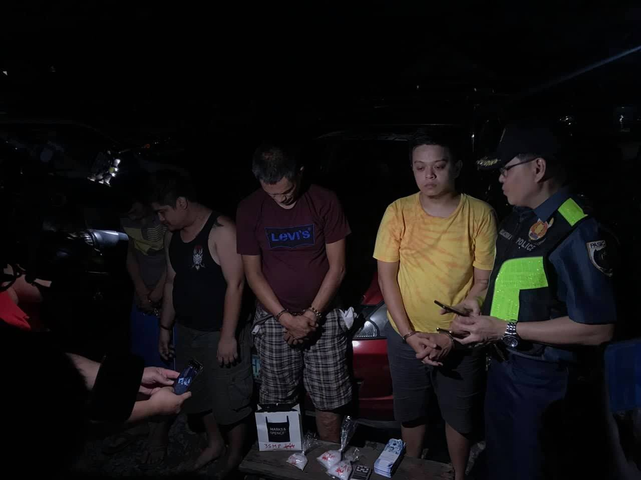P1.3M worth of Shabu seized in Pasig, Four (4) drug suspects nabbed