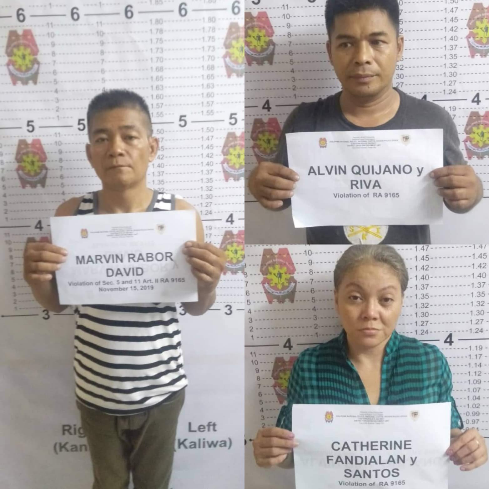 Three Drug Suspects Arrested in Pasig with P0.4 million estimated worth of Shabu